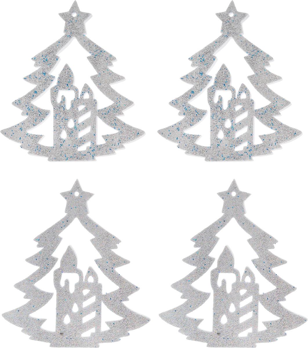Набор новогодних подвесных украшений House & Holder Елка, цвет: серебристый, 4 штC0038550Набор подвесных украшений House & Holder Елка прекрасно подойдет для праздничного декора новогодней ели. Набор состоит из 4 пластиковых украшений.Елочная игрушка - символ Нового года. Она несет в себе волшебство и красоту праздника. Создайте в своем доме атмосферу веселья и радости, украшая новогоднюю елку нарядными игрушками, которые будут из года в год накапливать теплоту воспоминаний. Откройте для себя удивительный мир сказок и грез. Почувствуйте волшебные минуты ожидания праздника, создайте новогоднее настроение вашим дорогим и близким.Размер: 11 х 0,5 х 12,5 см.