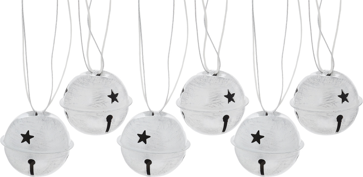 Набор новогодних подвесных украшений House & Holder Бубенчики, цвет: серый, белый, диаметр 4 см, 6 штN07618Набор подвесных украшений House & Holder Бубенчики прекрасно подойдет для праздничного декора новогодней ели. Набор состоит из 6 металлических украшений с перфорацией. Для удобного размещения на елке для каждого украшения предусмотрено петелька. Елочная игрушка - символ Нового года. Она несет в себе волшебство и красоту праздника. Создайте в своем доме атмосферу веселья и радости, украшая новогоднюю елку нарядными игрушками, которые будут из года в год накапливать теплоту воспоминаний. Откройте для себя удивительный мир сказок и грез. Почувствуйте волшебные минуты ожидания праздника, создайте новогоднее настроение вашим дорогим и близким.Диаметр: 4 см.