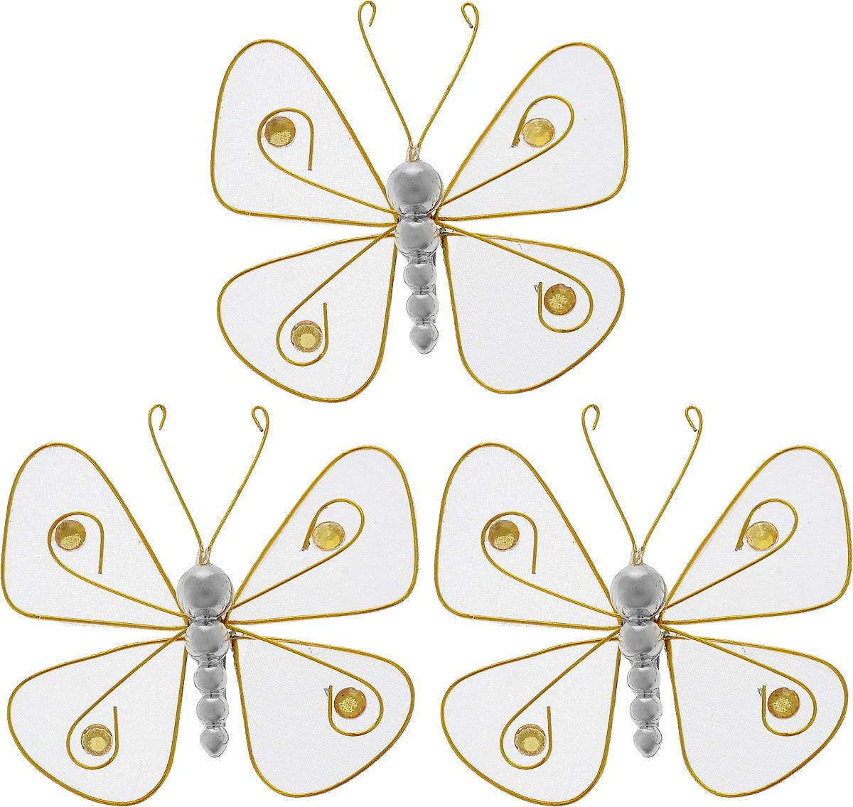 Набор новогодних подвесных украшений House & Holder Бабочки, 3 штDPA1008-3Набор подвесных украшений House & Holder Бабочки прекрасно подойдет для праздничного декора новогодней ели. Набор состоит из 3 пластиковых украшений в виде бабочек. Для удобного размещения на елке для каждого украшения предусмотрено крепление. Елочная игрушка - символ Нового года. Она несет в себе волшебство и красоту праздника. Создайте в своем доме атмосферу веселья и радости, украшая новогоднюю елку нарядными игрушками, которые будут из года в год накапливать теплоту воспоминаний. Откройте для себя удивительный мир сказок и грез. Почувствуйте волшебные минуты ожидания праздника, создайте новогоднее настроение вашим дорогим и близким.Размер: 7,5 х 7,5 х 1,5 см.