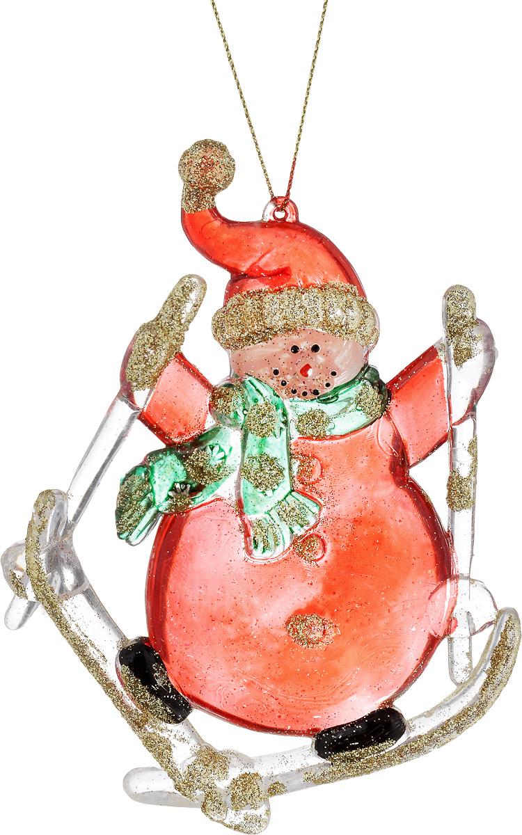 Украшение новогоднее подвесное House & Holder Снеговик на лыжах, высота 12,5 смNLED-454-9W-BKНовогоднее подвесное украшение House & Holder Снеговик на лыжах выполнено из пластмассы. С помощью специальной петельки украшение можно повесить в любом понравившемся вам месте. Но, конечно, удачнее всего оно будет смотреться на праздничной елке.Елочная игрушка - символ Нового года. Она несет в себе волшебство и красоту праздника. Создайте в своем доме атмосферу веселья и радости, украшая новогоднюю елку нарядными игрушками, которые будут из года в год накапливать теплоту воспоминаний.Размер: 9 х 1 х 12,5 см.