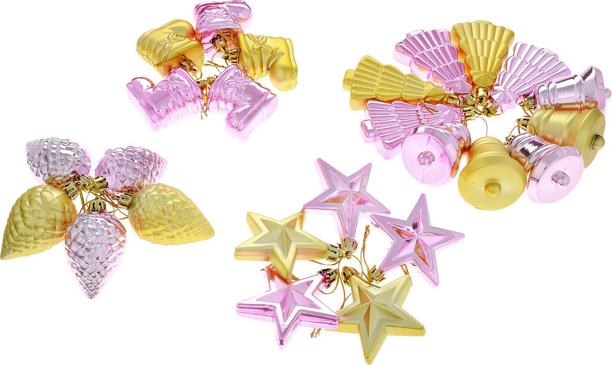 Набор новогодних подвесных украшений House & Holder, 25 штDP-C30-025Набор подвесных украшений House & Holder прекрасно подойдет для праздничного декора новогодней ели. Набор состоит из 25 пластиковых украшений в виде шишек, колокольчиков, елочек. Для удобного размещения на елке для каждого украшения предусмотрено петелька. Елочная игрушка - символ Нового года. Она несет в себе волшебство и красоту праздника. Создайте в своем доме атмосферу веселья и радости, украшая новогоднюю елку нарядными игрушками, которые будут из года в год накапливать теплоту воспоминаний. Откройте для себя удивительный мир сказок и грез. Почувствуйте волшебные минуты ожидания праздника, создайте новогоднее настроение вашим дорогим и близким.Средний размер игрушки: 4,5 х 4,5 х 6 см.