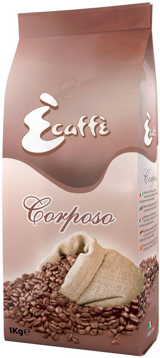 Caffitaly Ecaffe Corposo кофе в зернах, 1 кг (с клапаном дегазации)0120710Смесь из азиатской Робусты, смягченная настоящей Арабикой, которая придает кофе тонкий аромат. Кофе, приготовленный из смеси CORPOSO обладает сильным характером. Поэтому если Вы хотите получить больше энергии и бодрости – этот кофе будет идеальным выбором. Кофе упакован в пакетысклапаномдегазации, что обеспечивает сохранность вкусовых и ароматических свойств зерен в течение всего срока годности. Состав: 45% Арабика, 55% Робуста. Кислотность: 3,5/10. Крепость: 8/10. Количество: 1 кг. Срок годности: 18 мес.Регион: Бразилия, Гватемала, Индия Страна производства: Италия