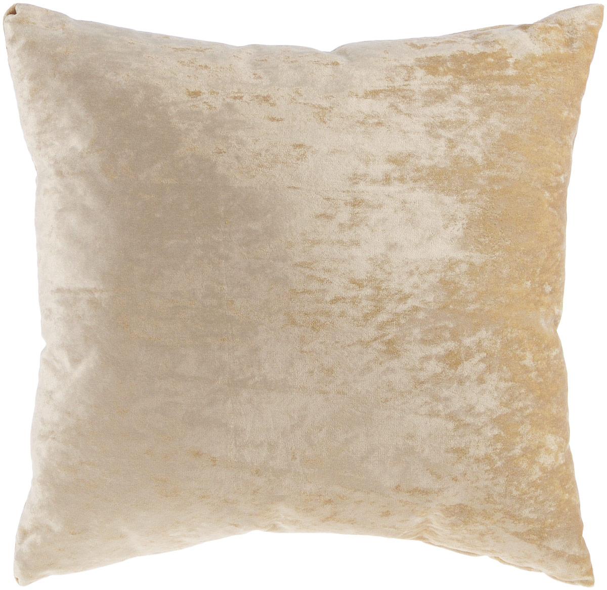Подушка декоративная KauffOrt Бархат, цвет: бежевый, 40 x 40 см3121039625Декоративная подушка Бархат прекрасно дополнит интерьер спальни или гостиной. Бархатистый на ощупь чехол подушки выполнен из 49% вискозы, 42% хлопка и 9% полиэстера. Внутри находится мягкий наполнитель. Чехол легко снимается благодаря потайной молнии.Красивая подушка создаст атмосферу уюта и комфорта в спальне и станет прекрасным элементом декора.