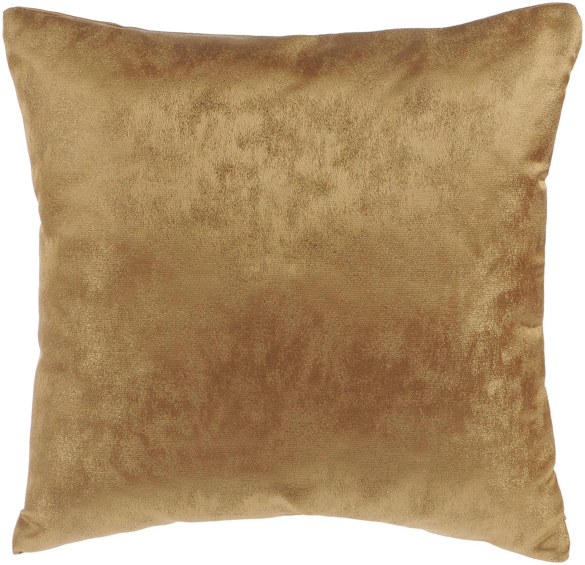 Подушка декоративная KauffOrt Магия, цвет: коричневый, 40 x 40 см6113MДекоративная подушка Магия прекрасно дополнит интерьер спальни или гостиной. Приятный на ощупь чехол подушки выполнен из полиэстера. Внутри находится мягкий наполнитель. Чехол легко снимается благодаря потайной молнии в тон ткани.Красивая подушка создаст атмосферу уюта и комфорта в спальне и станет прекрасным элементом декора.