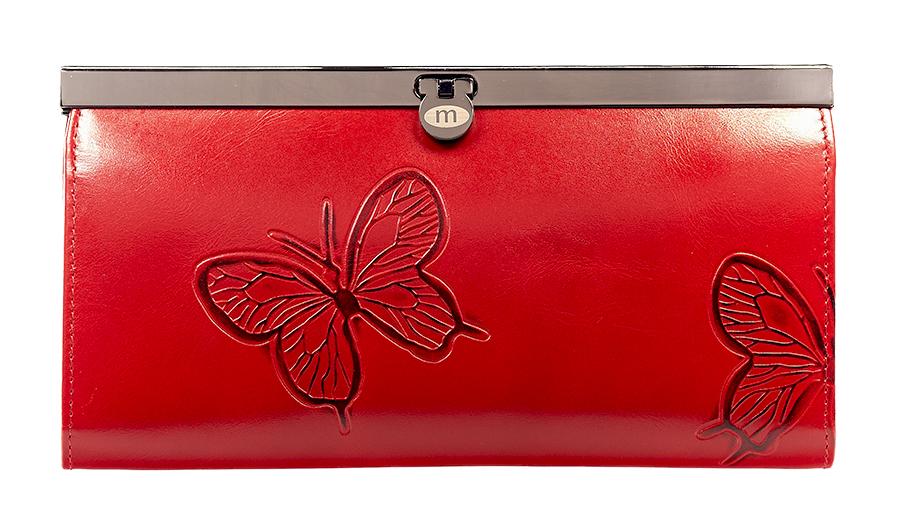 Кошелек женский Malgrado, цвет: красный. 73003-7003DBM8434-58AEСтильный кошелек Malgrado изготовлен из натуральной кожи красного цвета с декоративным тиснением в виде бабочек. Внутри содержит пять основных отделений, одно из которых на молнии, по три кармашка на боковых стенках для карточек, визиток или кредиток, два прозрачных кармашка для пропуска, проездного билета или фотографии. Закрывается кошелек на небольшой металлический замочек.Кошелек упакован в подарочную металлическую коробку с логотипом фирмы. Такой кошелек станет замечательным подарком человеку, ценящему качественные и практичные вещи. Характеристики:Материал: натуральная кожа, текстиль, металл. Размер кошелька: 19 см х 10 см х 2 см. Цвет: красный. Размер упаковки: 23 см х 13 см х 4,5 см. Артикул: 73003-7003D.