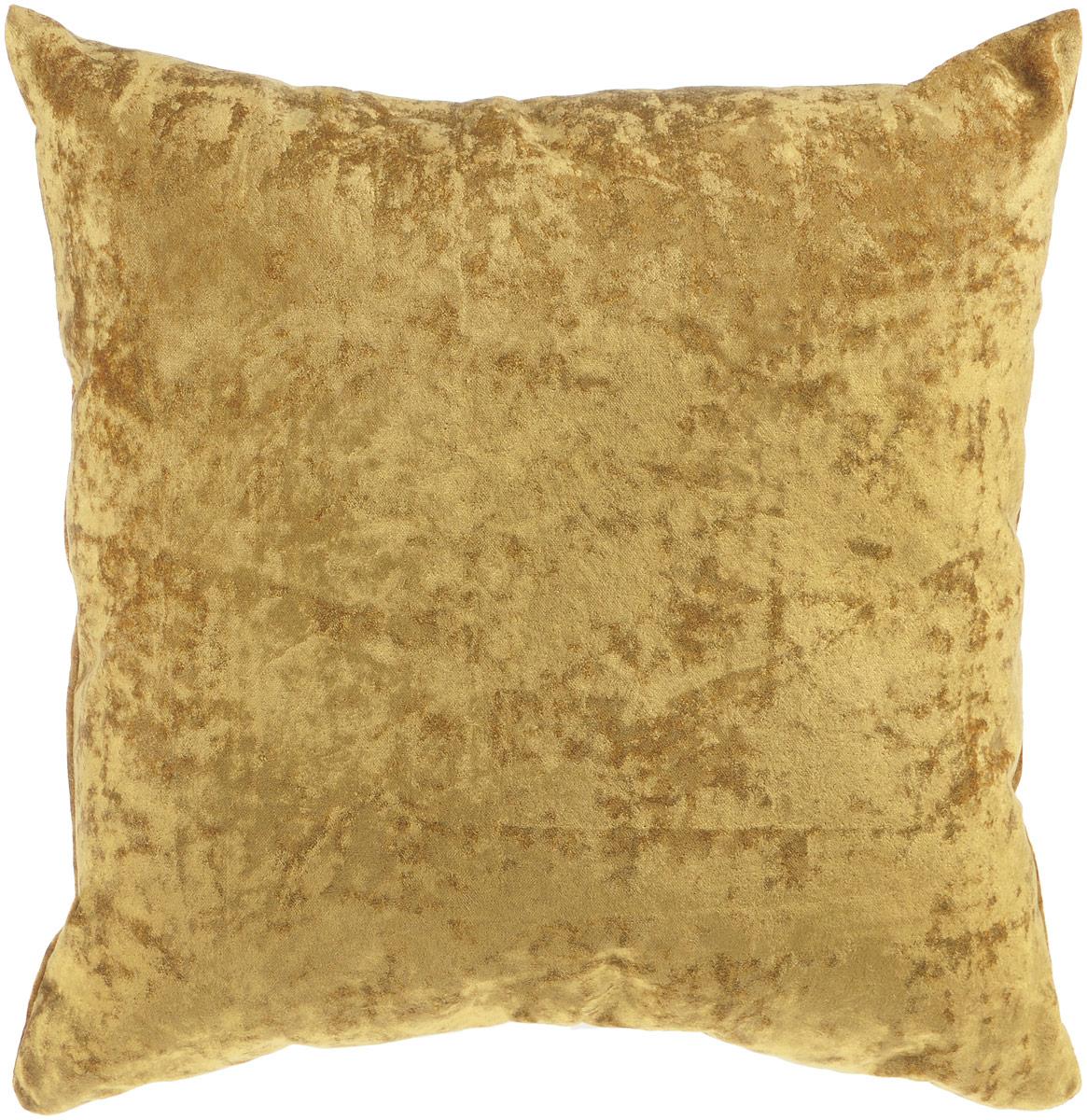 Подушка декоративная KauffOrt Бархат, цвет: горчичный, 40 x 40 см3121039654Декоративная подушка Бархат прекрасно дополнит интерьер спальни или гостиной. Бархатистый на ощупь чехол подушки выполнен из 49% вискозы, 42% хлопка и 9% полиэстера. Внутри находится мягкий наполнитель. Чехол легко снимается благодаря потайной молнии.Красивая подушка создаст атмосферу уюта и комфорта в спальне и станет прекрасным элементом декора.