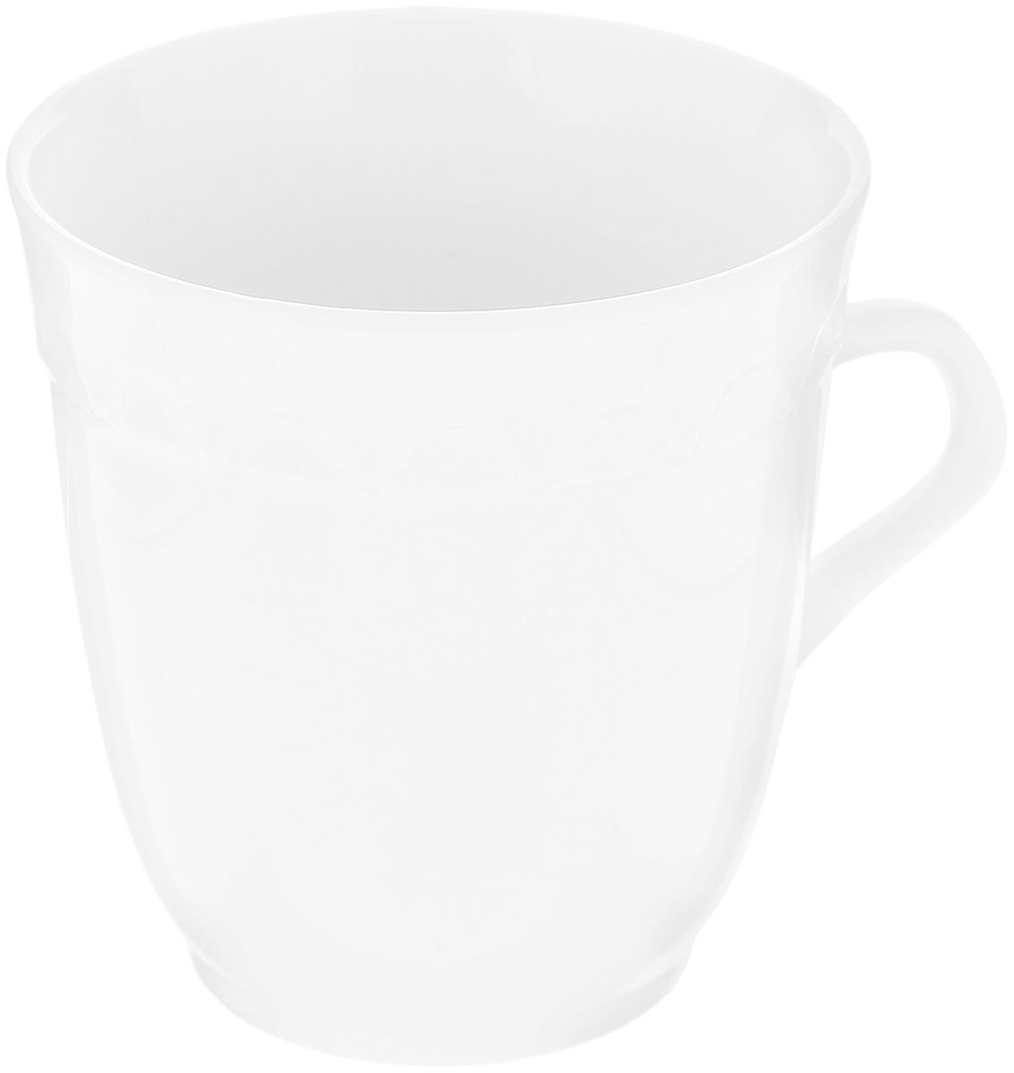 Кружка Фарфор Вербилок Арабеска, 250 мл. 3640000Б54 009312Кружка Фарфор Вербилок Арабеска способна скрасить любое чаепитие. Изделие выполнено из высококачественного фарфора. Посуда из такого материала позволяет сохранить истинный вкус напитка, а также помогает ему дольше оставаться теплым.Диаметр по верхнему краю: 8,3 см.Высота кружки: 9 см.