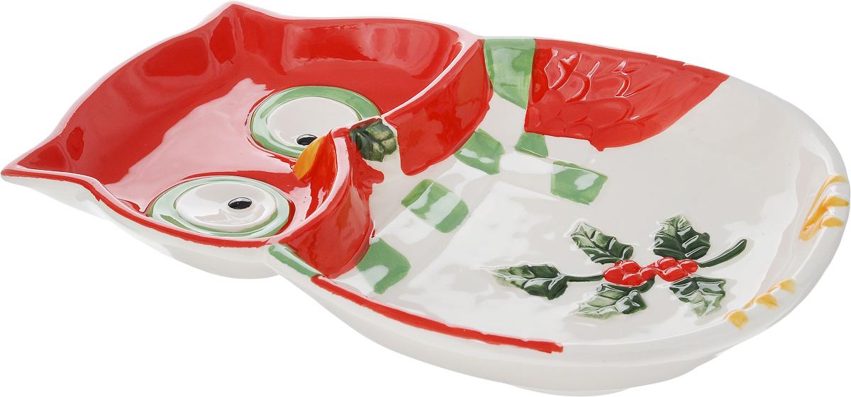 Тарелка House & Holder Сова, 24,5 х 17,5 см54 009312Тарелка для закусок House & Holder Сова, изготовленная из высококачественной керамики, предназначена для красивой сервировки блюд. Она оформлена оригинальным изображением и имеет изысканный внешний вид. Прекрасный дизайн изделия идеально подойдет для сервировки праздничного или обеденного стола.Размер тарелки (по верхнему краю): 24,5 х 17,5 см.