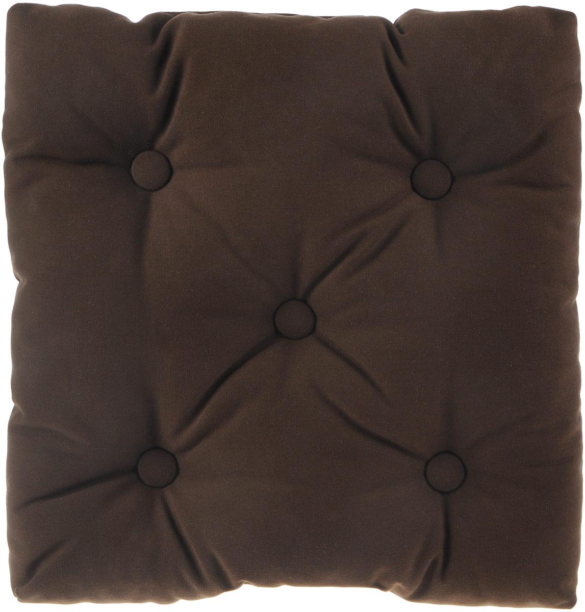 Подушка на стул KauffOrt Сад, цвет: коричневый, 40 x 40 смVT-1520(SR)Подушка на стул KauffOrt Сад не только красиво дополнит интерьер кухни, но и обеспечит комфорт при сидении. Изделие выполнено из материалов высокого качества. Подушка легко крепится на стул с помощью завязок. Правильно сидеть - значит сохранить здоровье на долгие годы. Жесткие сидения подвергают наше здоровье опасности. Подушка с мягким наполнителем поможет предотвратить большинство нежелательных последствий сидячего образа жизни.Толщина подушки: 10 см.