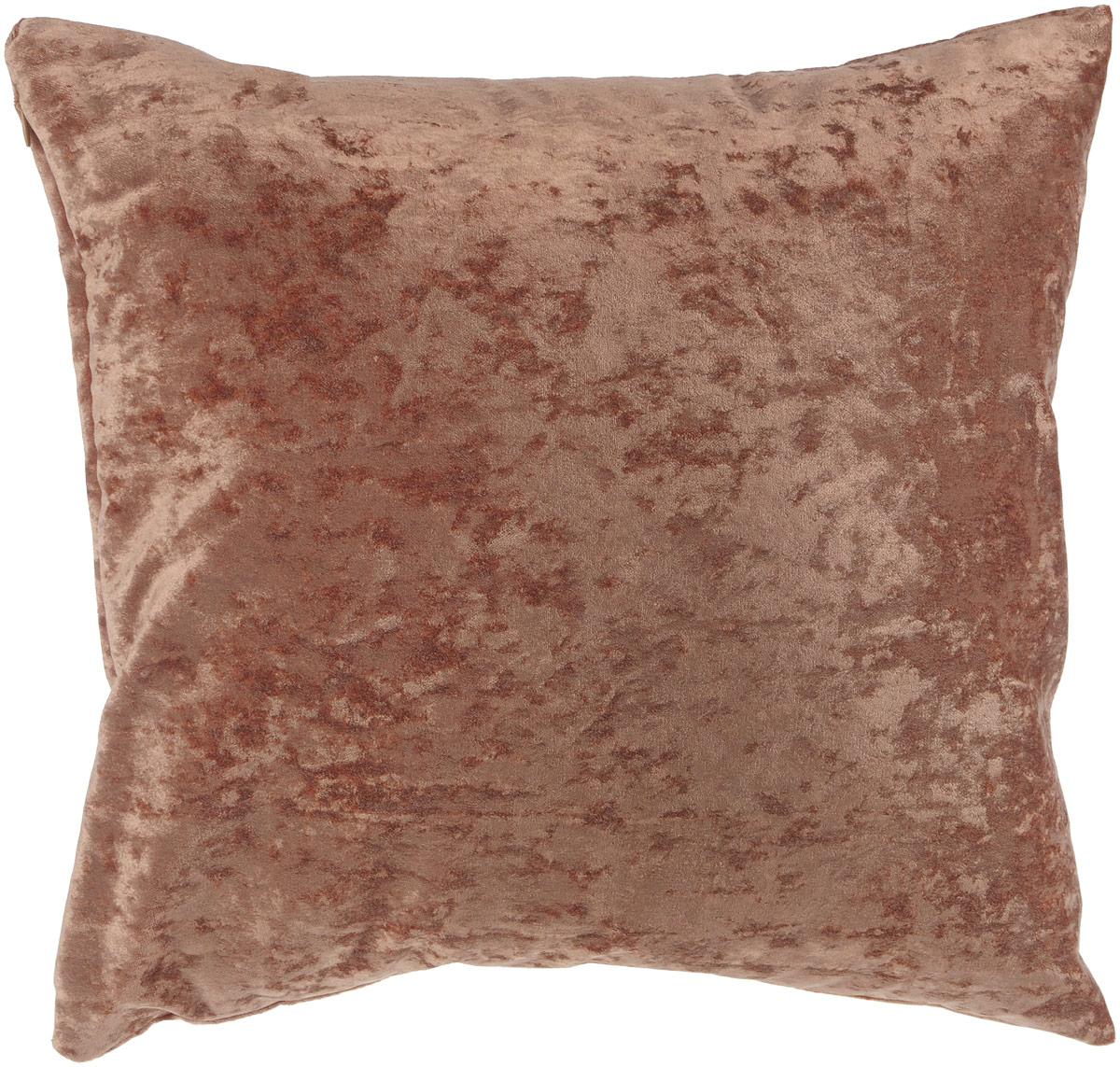 Подушка декоративная KauffOrt Бархат, цвет: коричневый, 40 x 40 смZ-0307Декоративная подушка Бархат прекрасно дополнит интерьер спальни или гостиной. Бархатистый на ощупь чехол подушки выполнен из 49% вискозы, 42% хлопка и 9% полиэстера. Внутри находится мягкий наполнитель. Чехол легко снимается благодаря потайной молнии.Красивая подушка создаст атмосферу уюта и комфорта в спальне и станет прекрасным элементом декора.