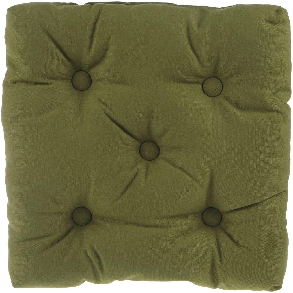 Подушка на стул KauffOrt Комо, цвет: зеленый, 40 x 40 смVT-1520(SR)Подушка на стул KauffOrt Комо не только красиво дополнит интерьер кухни, но и обеспечит комфорт при сидении. Чехол выполнен из хлопка, а наполнитель из холлофайбера. Подушка легко крепится на стул с помощью завязок. Правильно сидеть - значит сохранить здоровье на долгие годы. Жесткие сидения подвергают наше здоровье опасности. Подушка с мягким наполнителем поможет предотвратить большинство нежелательных последствий сидячего образа жизни.Толщина подушки: 10 см.