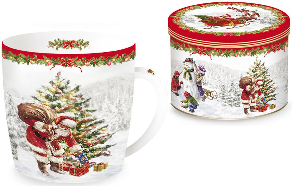 Кружка Nuova R2S Рождественская елка, 350 мл2С0171Кружка Nuova R2S Рождественская елка, изготовленная из высококачественного фарфора, оформлена ярким рисунком. Красочность оформления придется по вкусу и ценителям классики, и тем, кто предпочитает утонченность и изысканность.Такая кружка - отличный вариант новогоднего подарка для ваших близких и друзей.