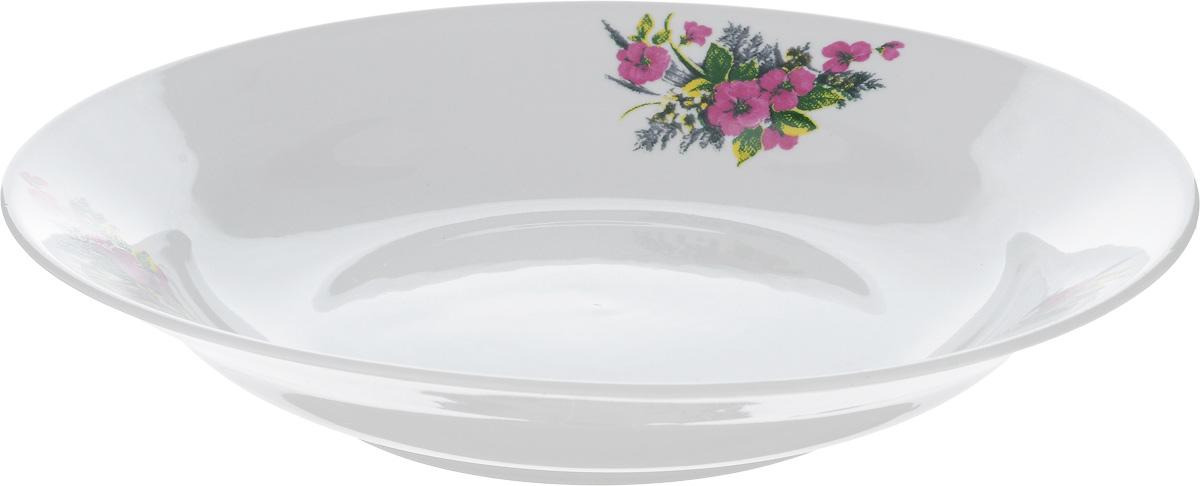 Тарелка глубокая Фарфор Вербилок Виола, диаметр 23 смM-733_коралловыйТарелка Фарфор Вербилок Виола, изготовленная из высококачественного фарфора, имеет классическую круглую форму. Она прекрасно впишется в интерьер вашей кухни и станет достойным дополнением к кухонному инвентарю. Идеально подойдет для подачи супов. Тарелка Фарфор Вербилок Виола подчеркнет прекрасный вкус хозяйки и станет отличным подарком.Диаметр тарелки (по верхнему краю): 23 см.Высота тарелки: 4 см.