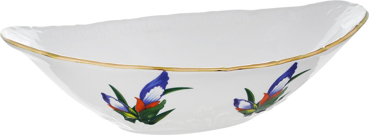 Салатник Фарфор Вербилок Ладья. Вернисаж, 1,2 л21902765Салатник Фарфор Вербилок Ладья. Вернисаж изготовлен из высококачественного фарфора. Внешняя стенка оформлена красочным изображением. Такой салатник будет смотреться не только стильно, но и элегантно. Он дополнит коллекцию кухонной посуды и будет служить долгие годы. Размер салатника (по верхнему краю): 27,5 х 15 см. Высота салатника: 8 см.