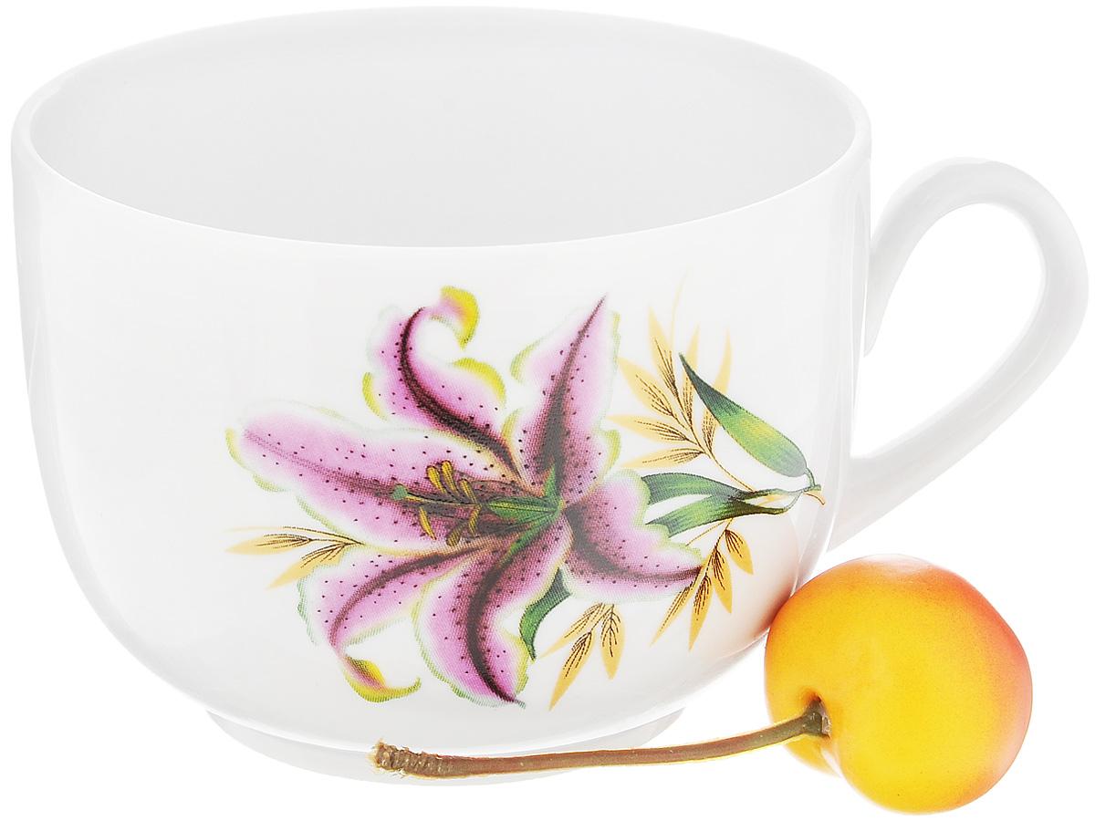 Чашка чайная Фарфор Вербилок Август. Розовая лилия, 300 мл54 009312Чайная чашка Фарфор Вербилок Август. Розовая лилия способна скрасить любое чаепитие. Изделие выполнено из высококачественного фарфора. Посуда из такого материала позволяет сохранить истинный вкус напитка, а также помогает ему дольше оставаться теплым.Диаметр по верхнему краю: 8,5 см.Высота чашки: 6,5 см.