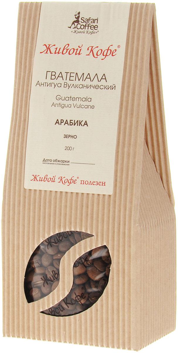 Живой Кофе Гватемала Антигуа Вулканический кофе в зернах, 200 г0120710Живой Кофе Гватемала Антигуа Вулканический растет на склонах вулкана Фуэго, и носит название древней столицы этого государства – Антигуа. Кофейные деревья имеют корни до 30 метров в глубину, что позволяет насыщаться минералами вулканических почв. Поэтому напиток имеет пряный, немного шоколадный вкус и дымный аромат.