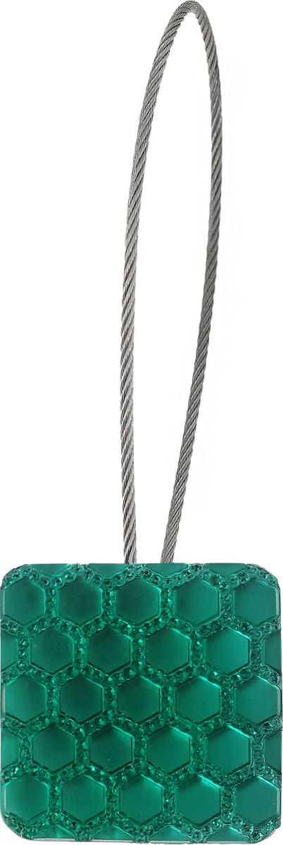 Подхват для штор TexRepublic Ajur. Tross, на магнитах, цвет: серебряный, зеленый. 78992RC-100BPCИзящный подхват для штор TexRepublic Ajur. Tross, выполненный из пластика и металла, можно использовать как держатель для штор или для формирования декоративных складок на ткани. С его помощью можно зафиксировать шторы или скрепить их, придать им требуемое положение, сделать симметричные складки. Благодаря магнитам подхват легко надевается и снимается.Подхват для штор является универсальным изделием, которое превосходно подойдет для любых видов штор. Подхваты придадут шторам восхитительный, стильный внешний вид и добавят уют в интерьер помещения.Длина подхвата: 20 см.Диаметр: 3,5 см.