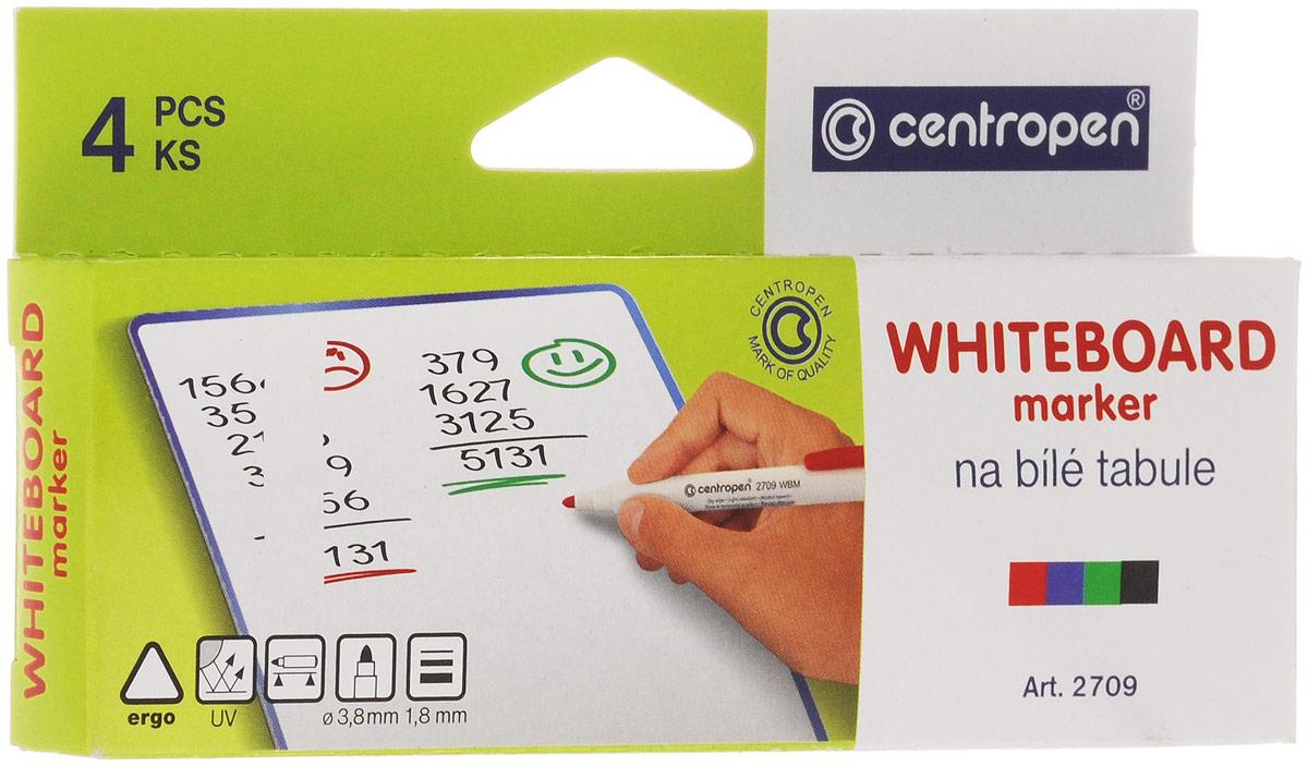 Набор маркеров Centropen для доски, 4 цвета. 2709/4PVC2709/4PVC