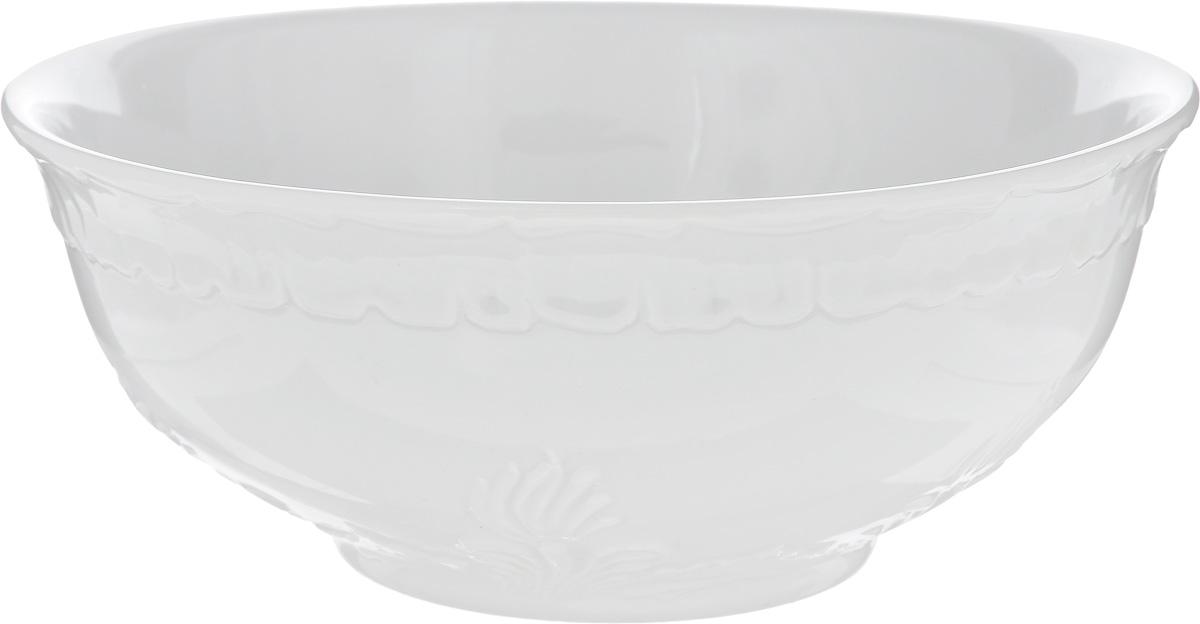 Салатник Фарфор Вербилок, 1,2 л115510Салатник Фарфор Вербилок изготовлен из высококачественного фарфора. Внешняя стенка оформлена узором. Такой салатник будет смотреться не только стильно, но и элегантно. Он дополнит коллекцию кухонной посуды и будет служить долгие годы. Диаметр салатника по верхнему краю: 19 см. Высота салатника: 8 см.