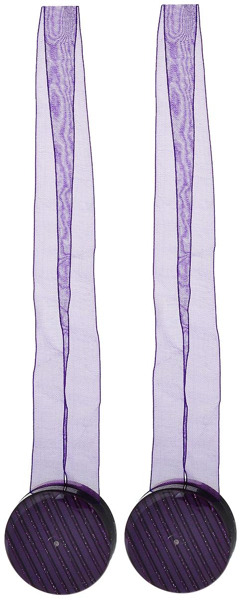 Подхват для штор TexRepublic Ajur. Lenta, на магнитах, цвет: фиолетовый, диаметр 4 см, 2 шт. 7900979009Изящный подхват для штор TexRepublic Ajur. Lenta, выполненный из пластика и текстиля, можно использовать как держатель для штор или для формирования декоративных складок на ткани. С его помощью можно зафиксировать шторы или скрепить их, придать им требуемое положение, сделать симметричные складки. Благодаря магнитам подхват легко надевается и снимается.Подхват для штор является универсальным изделием, которое превосходно подойдет для любых видов штор. Подхваты придадут шторам восхитительный, стильный внешний вид и добавят уют в интерьер помещения.Длина подхвата: 36 см.Диаметр: 4 см.Количество: 2 шт.
