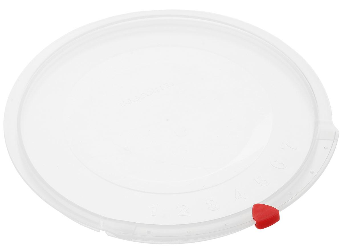 Крышка Tescoma Unicover, диаметр 20 смFS-91909Крышка Tescoma Unicover используется при хранении еды, для закрытия высоких кастрюль, кастрюль и ковшей из нержавеющей стали. Плоская форма крышки позволяет складывать посуду в целях экономии места в холодильнике. Пища, закрытая пластиковой крышкой, не высыхает и не впитывает запахи других продуктов питания. На крышке имеется семидневный датировщик для индикации с первого дня хранения. Изделие выполнено из пластмассового материала, предназначенного для медицинских и фармацевтических целей. Можно мыть в посудомоечной машине.Подходит для кастрюль диаметром 20 см.Диаметр крышки (по верхнему краю): 21,5 см.