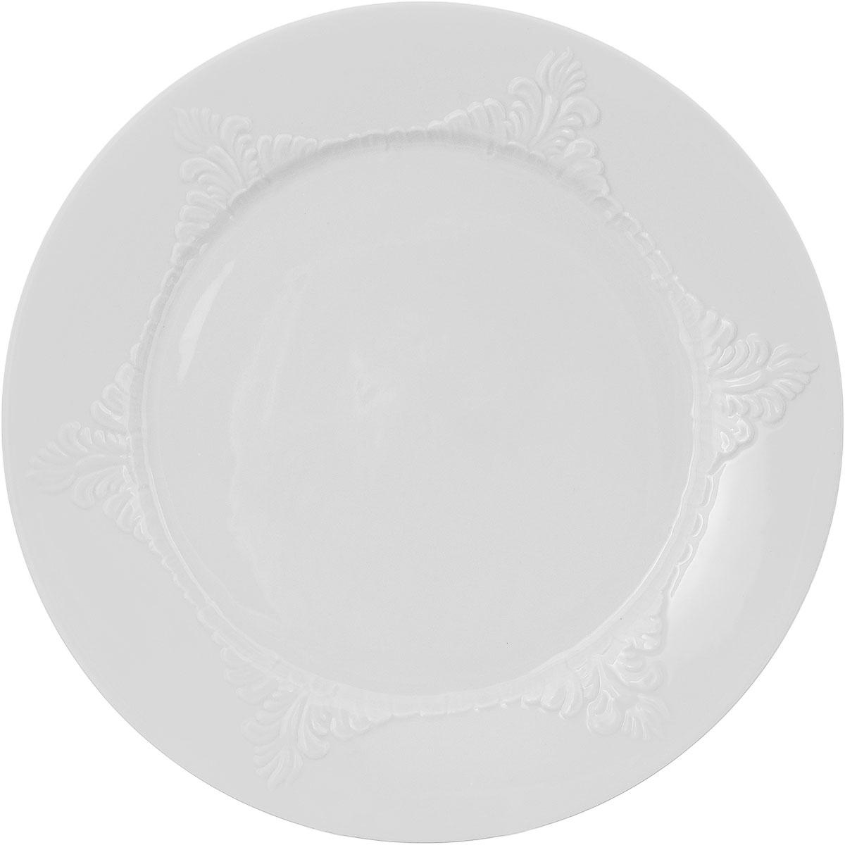 Тарелка Фарфор Вербилок, диаметр 24 см. 1658001Б115510Тарелка Фарфор Вербилок, изготовленная из высококачественного фарфора, имеет классическую круглую форму. Она прекрасно впишется в интерьер вашей кухни и станет достойным дополнением к кухонному инвентарю. Тарелка Фарфор Вербилок подчеркнет прекрасный вкус хозяйки и станет отличным подарком.Диаметр тарелки (по верхнему краю): 24 см.