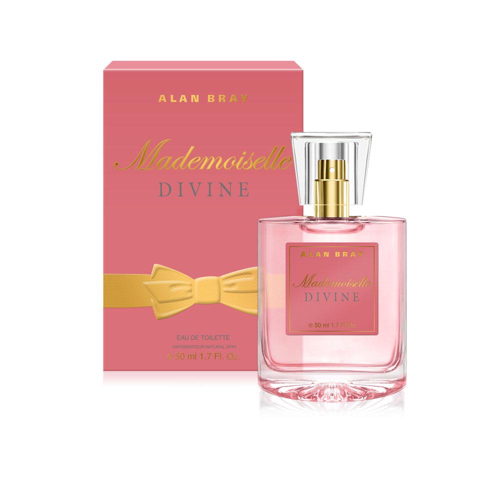 Alan Bray Mademoiselle Divine Туалетная вода 50 мл1301210Mademoiselle Divine - Роскошный аромат Divine – безупречный выбор для девушки, собирающейся на особенное мероприятие. Чувственная композиция позволит своей обладательнице притягивать взгляды и выглядеть магнетически привлекательно! верхние ноты: апельсин, яблоневый цвет, слива.ноты «сердца»: магнолия,фрезия, пион.ноты шлейфа: бобы тонка,мускус, сандал.