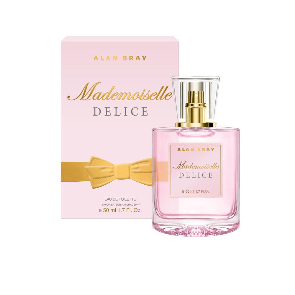 Alan Bray Mademoiselle Delice Туалетная вода 50 млWS 7064Mademoiselle Delice – Восхитительно нежный аромат Delice пробуждает энергию и радость жизни, наполняя легкостью и очарованием. Волнующий и изящный, он закружит в вихре безграничной фантазии. верхние ноты: лимон, бергамот, апельсин, черная смородина. ноты «сердца»: жасмин, роза, персик, водные цветы.ноты шлейфа: кедр, белый мускус, тиковое дерево, ваниль