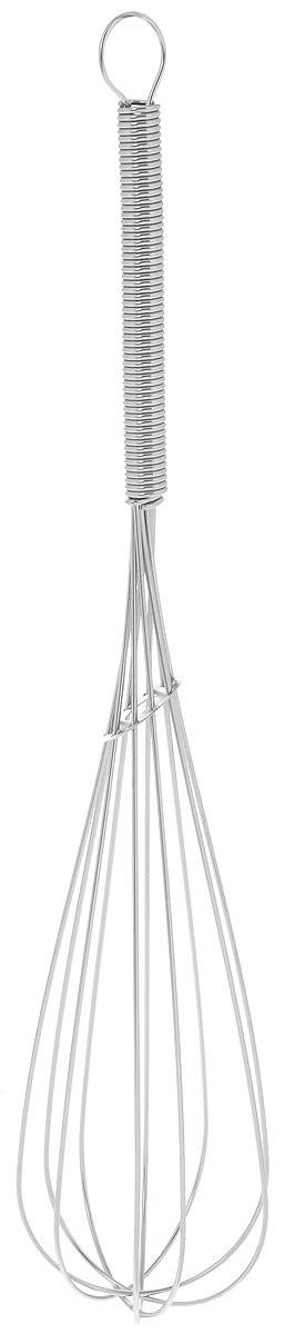 Венчик Top Star, длина 25,5см391602Венчик Top Star, выполненный из высококачественной хромированной стали, отлично подходит для интенсивного взбивания сливок, яиц, теста, кремов и соусов. Удобная ручка делает процесс взбивания легким.Практичный и удобный венчик Top Star займет достойное место среди аксессуаров на вашей кухне.Длина венчика: 25,5 см.Размер рабочей части: 17 х 5,5 см.