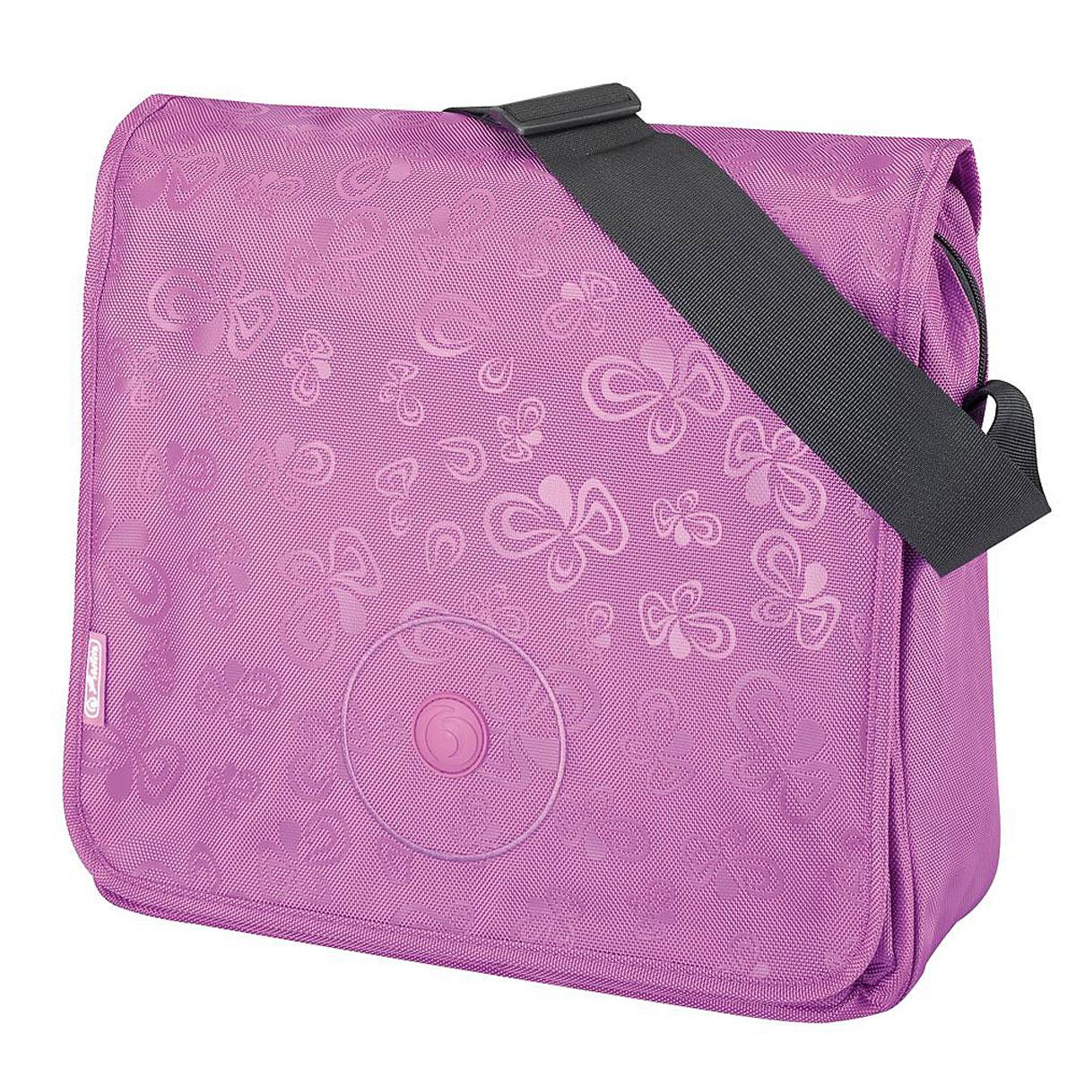 Herlitz Сумка школьная Be Bag Flower Splash Purple72523WDПрочная и вместительная школьная сумка Herlitz Be Bag. Flower Splash Purple смотрится элегантно в любой ситуации.Сумка имеет одно отделение, которое закрывается на застежку-молнию и клапан. Внутри отделения находятся два открытых сетчатых кармана и врезной карман на молнии. Под клапаном с лицевой стороны расположен накладной карман на застежке-молнии, внутри которого находятся два открытых кармашка, карман-сетка, карман на застежке-молнии, три кармашка для канцелярских принадлежностей и пластиковый карабин для ключей. Клапан крепится на кнопках, его можно отстегнуть и использовать сумку без него.Широкая лямка регулируется по длине. Такую сумку можно использовать для повседневных прогулок, учебы, отдыха и спорта, а также как элемент вашего имиджа. Лаконичный и сдержанный дизайн подчеркнет индивидуальность и порадует своей функциональностью.