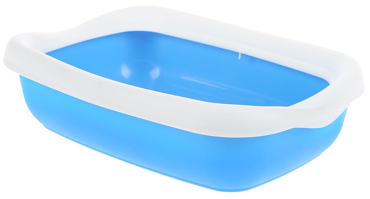 Туалет для кошек MPS Beta, с бортом, цвет: голубой, белый, 43 х 31 х 12,5 см0120710Туалет для кошек MPS Beta изготовлен из высококачественного пластика. Высокий борт, прикрепленный по периметру лотка, удобно защелкивается и предотвращает разбрасывание наполнителя. Такой туалет не впитывает неприятные запахи и прекрасно отмывается.