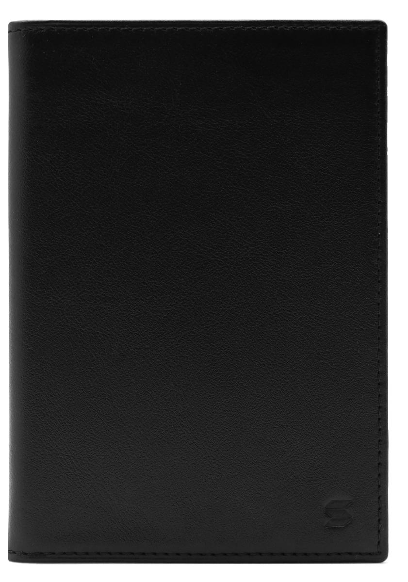 Обложка для паспорта Soltan, цвет: черный. 005 01 01005 01 01Обложка для паспорта Soltan выполнена из натуральной кожи и оформлена тиснением в виде логотипа бренда.