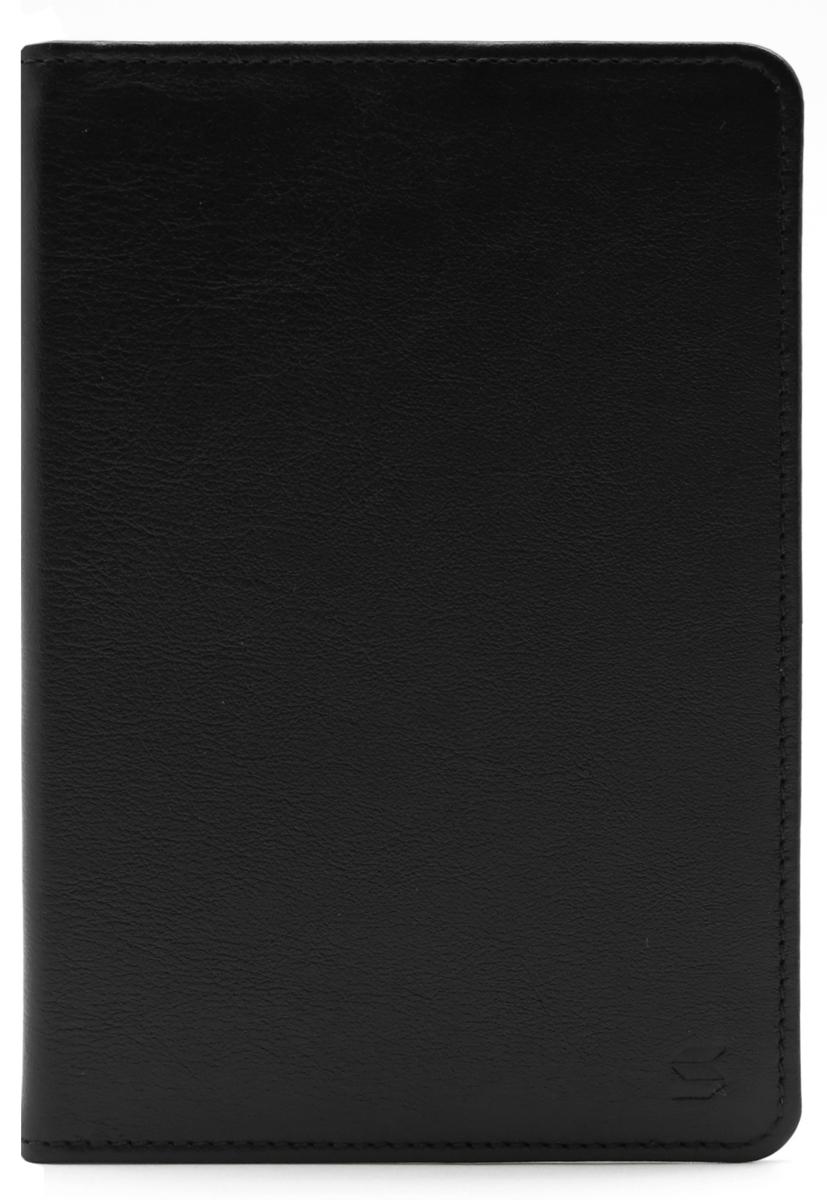 Обложка для паспорта Soltan, цвет: черный. 010 01 01541/8_красныйОбложка для паспорта Soltan выполнена из натуральной кожи и оформлена тиснением в виде логотипа бренда. Внутри у изделия удобные широкие поля.