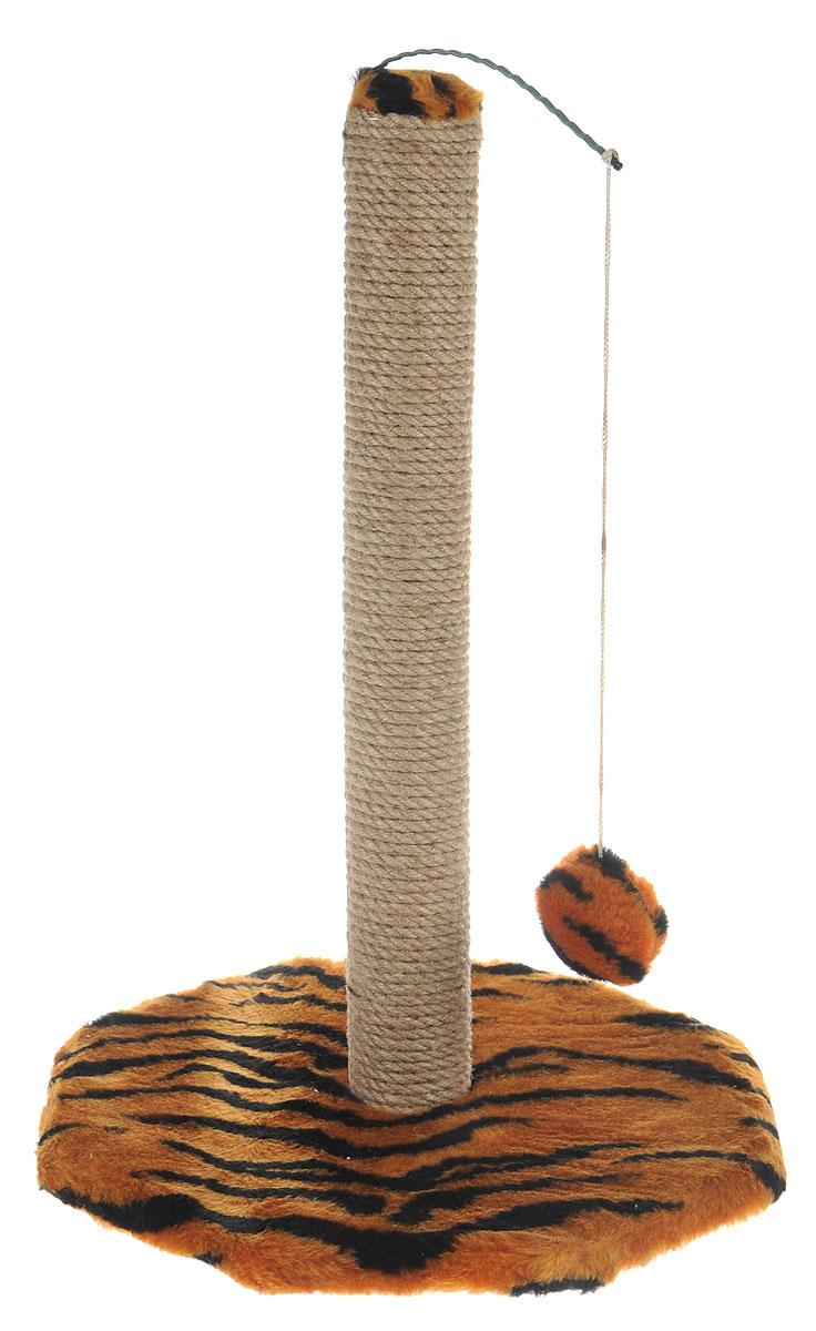 Когтеточка Меридиан, на подставке, с игрушкой, цвет: оранжевый, черный, бежевый, высота 52 см3336020040736Когтеточка Меридиан поможет сохранить мебель и ковры в доме от когтей вашего любимца, стремящегося удовлетворить свою естественную потребность точить когти. Когтеточка изготовлена из дерева, искусственного меха и джута. Товар продуман в мельчайших деталях и, несомненно, понравится вашей кошке. Сверху имеется висячая игрушка, которая привлечет питомца.Всем кошкам необходимо стачивать когти. Когтеточка - один из самых необходимых аксессуаров для кошки. Для приучения к когтеточке можно натереть ее сухой валерьянкой или кошачьей мятой. Когтеточка поможет вашему любимцу стачивать когти и при этом не портить вашу мебель.Размер основания: 36 х 36 см.Высота когтеточки: 52 см.