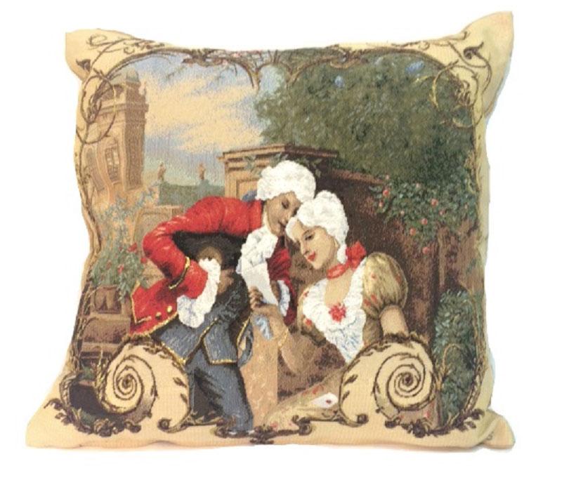 Подушка декоративная Рапира Урок красноречия, 45 х 45 смS03301004Декоративная подушка с наполнителем холлофайбер со съёмным чехлом на молнии, выполненным из жаккарда, - это яркий штрих в интерьере комнаты. Лицевая сторона - гобелен (жаккардовое ткачество), оборотная сторона -однотонная ткань типа плюш.