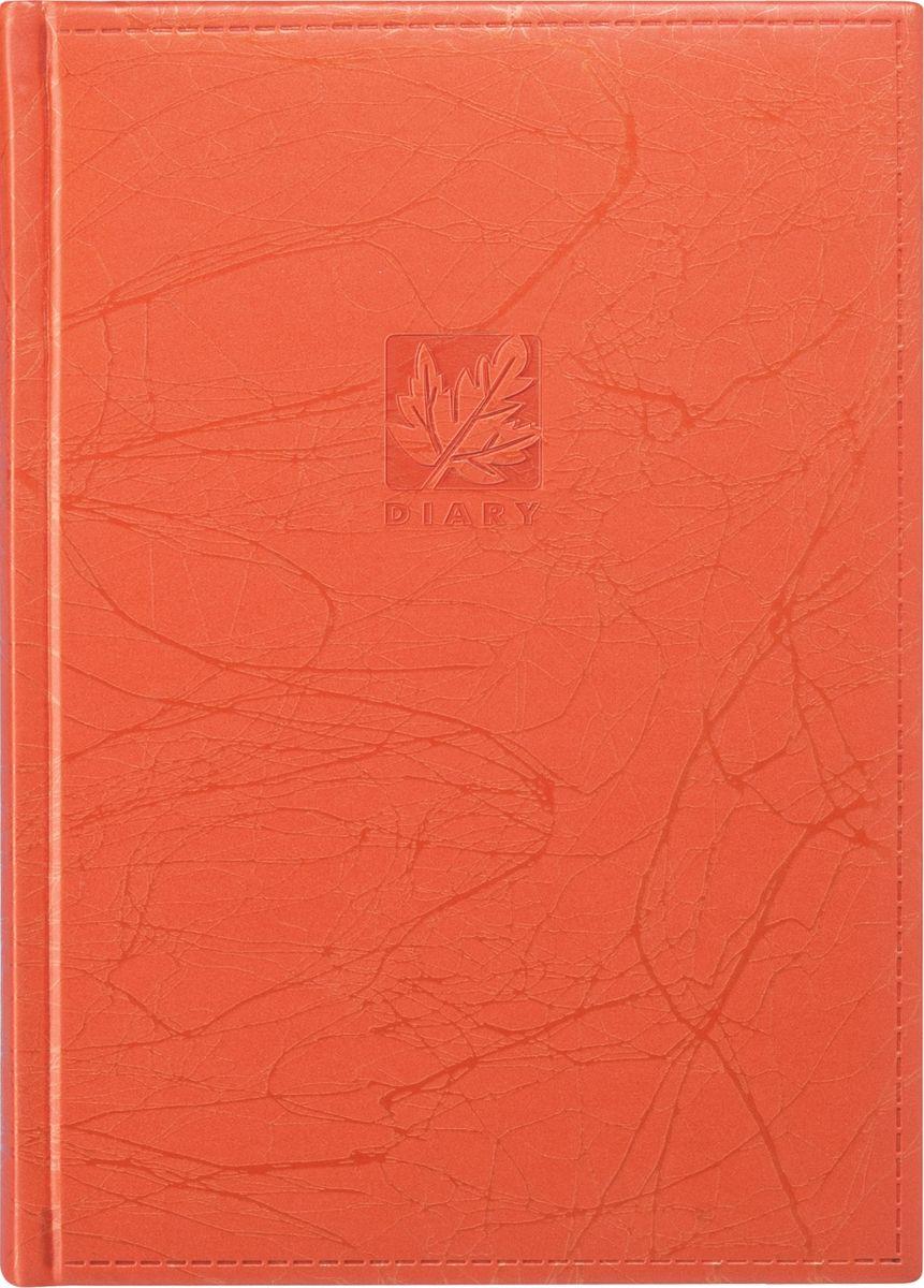 Erich Krause Ежедневник Scribble недатированный 176 листов цвет оранжевый0703415Недатированный ежедневник Erich Krause Scribble послужит прекрасным местом для различных записей.Ежедневник с перфорацией уголков дополнен обширным справочным материалом и телефонно-адресной книгой. Сшитый внутренний блок состоит из 176 листов белой бумаги с линованной разметкой и золотым обрезом. Одна страница - один день. Ежедневник имеет ляссе. Обложка выполнена из картона, обтянутого искусственной кожи. На обложку ежедневника нанесены штамп DIARY и штамп с кленовым листом.