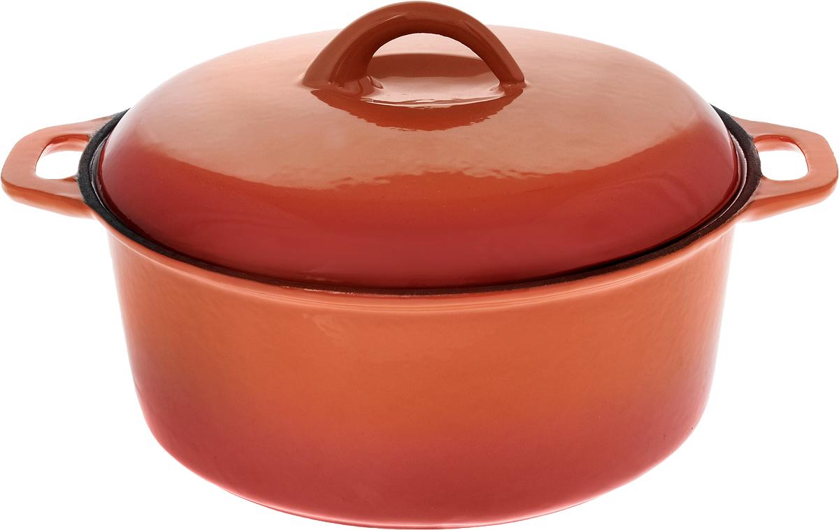 Кастрюля эмалированная Myron Cook с крышкой, 3 л54 009312Кастрюля эмалированная с крышкой Myron Cook — высококачественное изделие, которое превратит процесс приготовления блюд в настоящий праздник. Кастрюля изготовлена из чугуна, отличающегося долговечностью и прочностью. Эмалированное покрытие предотвращает пригорание пищи, способствуя равномерному и плавному нагреву дна и стенок. Помимо этого, оно значительно облегчает очищение кастрюли.Кастрюля идеально подойдет для приготовления самых различных блюд. Пища в ней сохранит свой неповторимый вкус, аромат и сочность. Чугунная крышка формирует в емкости оптимальную температуру для равномерного и быстрого приготовления продуктов. Надежные рукоятки также выполнены из чугуна. Кастрюля представлена в яркой солнечной расцветке, благодаря чему она станет настоящим украшением кухни.Подходит для газовых, электрических, стеклокерамических и индукционных плит. Можно мыть в посудомоечной машине. Размер кастрюли (без учета крышки): 30 х 24,5 х 10 см.