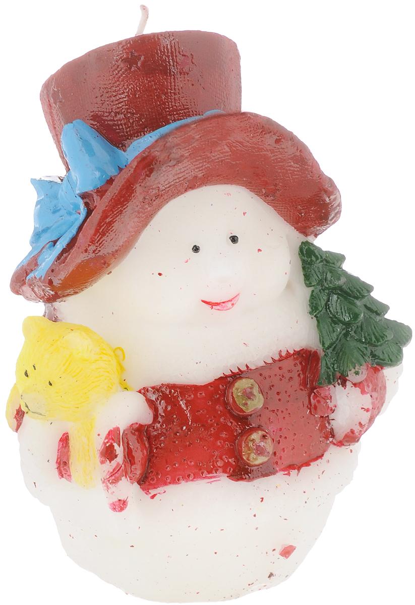 Свеча декоративная House & Holder Снеговик, высота 11 см. 10PC001RG-D31SСвеча House & Holder Снеговик, изготовленная из парафина, станет прекрасным украшением интерьера помещения в преддверии Нового года. Такая свеча создаст атмосферу таинственности и загадочности и наполнит ваш дом волшебством и ощущением праздника. Хороший сувенир для друзей и близких.