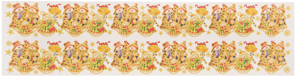 Новогоднее оконное украшение Стрекоза Снеговики,57 х 7 см, 2 шт702578_серебристый, желтыйНовогоднее украшение Стрекоза Снеговики поможет вам изменить облик комнаты за считанные минуты и создаст особенное предновогоднее настроение. Красочный рисунок с золотыми контурами нанесен на прозрачную основу, благодаря чему наклейки видны с обеих сторон стекла. Кроме того, они легко отклеиваются и могут быть использованы многократно. Превратите ваш дом в сказочное королевство!Размер наклейки: 57 х 7 см. Размер листа: 59 х 14,7 см.