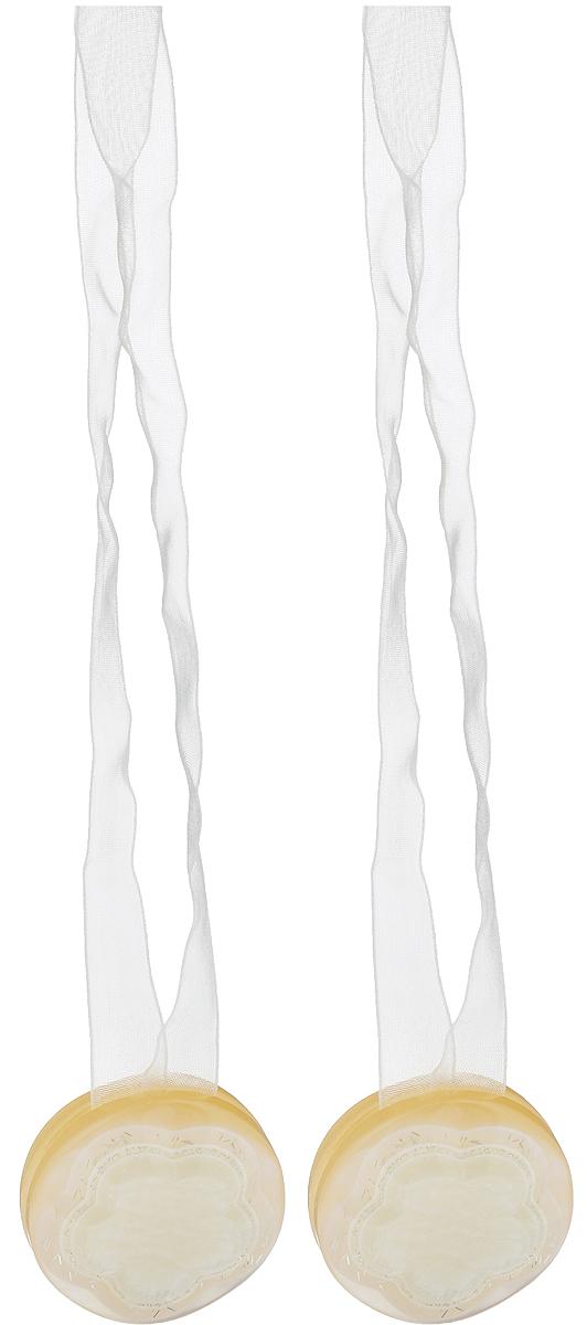 Подхват для штор TexRepublic Ajur. Lenta, на магнитах, цвет: слоновая кость, диаметр 4 см, 2 шт. 79021CLP446Изящный подхват для штор TexRepublic Ajur. Lenta, выполненный из пластика и текстиля, можно использовать как держатель для штор или для формирования декоративных складок на ткани. С его помощью можно зафиксировать шторы или скрепить их, придать им требуемое положение, сделать симметричные складки. Благодаря магнитам подхват легко надевается и снимается.Подхват для штор является универсальным изделием, которое превосходно подойдет для любых видов штор. Подхваты придадут шторам восхитительный, стильный внешний вид и добавят уют в интерьер помещения.Длина подхвата: 36 см.Диаметр: 4 см.Количество: 2 шт.