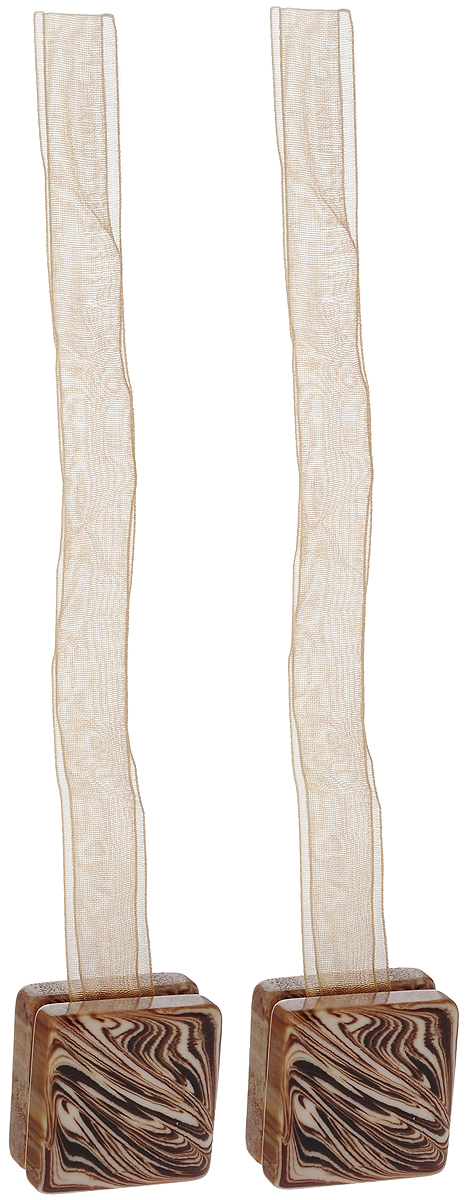 Подхват для штор TexRepublic Ajur. Lenta, на магнитах, цвет: бежевый, 2 шт. 790271004900000360Изящный подхват для штор TexRepublic Ajur. Lenta, выполненный из пластика и текстиля, можно использовать как держатель для штор или для формирования декоративных складок на ткани. С его помощью можно зафиксировать шторы или скрепить их, придать им требуемое положение, сделать симметричные складки. Благодаря магнитам подхват легко надевается и снимается.Подхват для штор является универсальным изделием, которое превосходно подойдет для любых видов штор. Подхваты придадут шторам восхитительный, стильный внешний вид и добавят уют в интерьер помещения.Длина подхвата: 35 см.Количество: 2 шт.