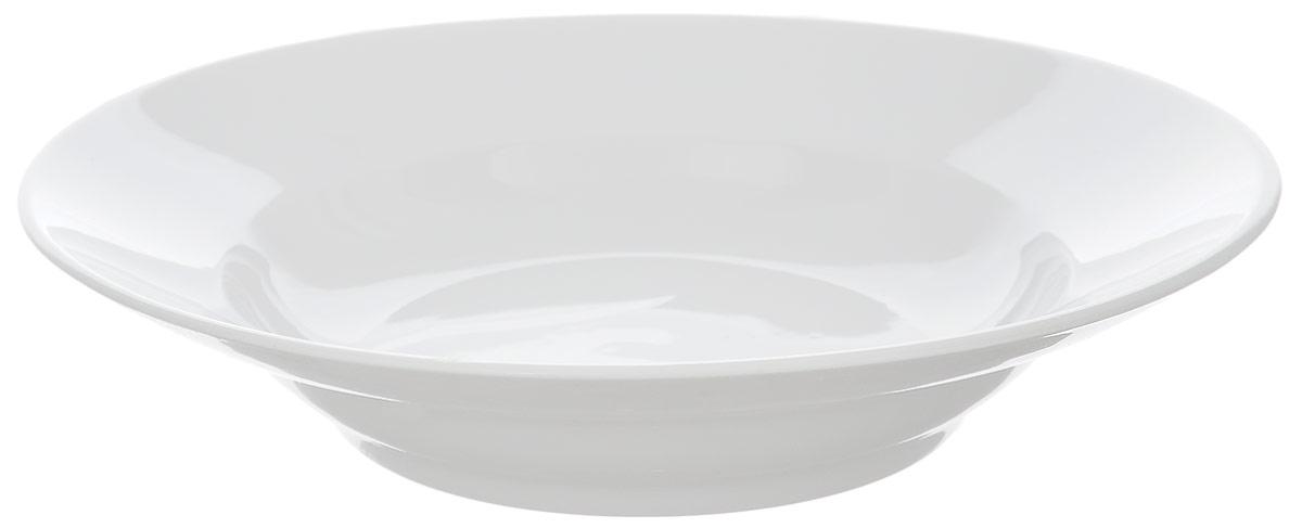 Тарелка глубокая Фарфор Вербилок, диаметр 19,5 см1303877Тарелка Фарфор Вербилок, изготовленная из высококачественного фарфора, имеет классическую круглую форму. Она прекрасно впишется в интерьер вашей кухни и станет достойным дополнением к кухонному инвентарю. Идеально подойдет для подачи супов. Тарелка Фарфор Вербилок подчеркнет прекрасный вкус хозяйки и станет отличным подарком.Диаметр тарелки (по верхнему краю): 19,5 см.Высота тарелки: 4 см.