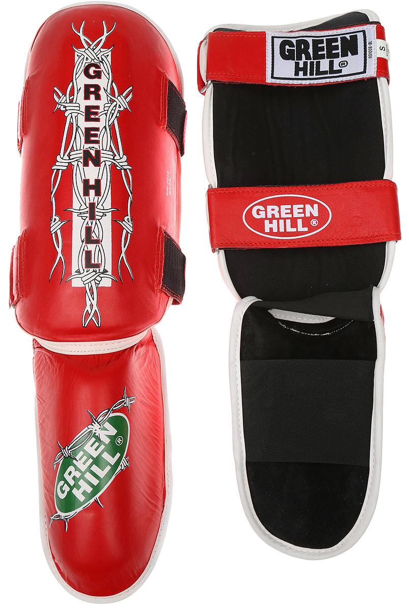 Защита голени и стопы Green Hill Barb, цвет: красный, белый. Размер S. SIB-0016BB1637Защита голени и стопы Green Hill Barb необходима при занятиях спортом для защиты пальцев и суставов от вывихов, ушибов и прочих повреждений. Выполнена из высококачественной натуральной кожи. Наполнитель из пенополиуретана средней жесткости обеспечивает умеренно жесткий удар и предотвращает травмы голени и стопы. Защита закрепляется при помощи ремней на липучках. Защита правильно подобранного размера надежно сидит на ноге, не спадает и не сваливается во время поединка.Длина голени: 31,5 см.Ширина голени: 15 см.Длина стопы: 19 см.Ширина стопы: 11 см.