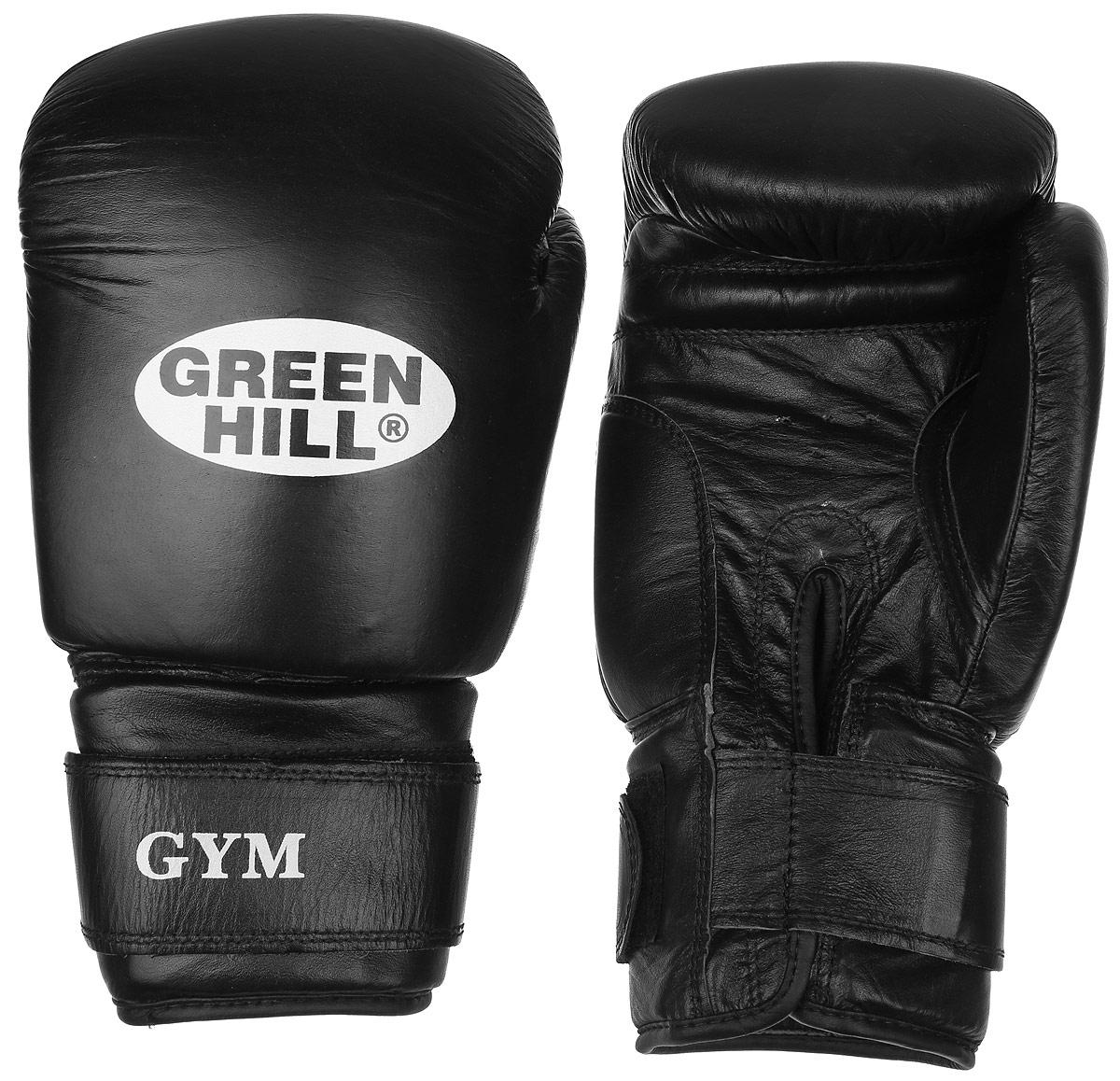 Перчатки боксерские Green Hill Gym, цвет: черный, белый. Вес 18 унцийAIRWHEEL Q3-340WH-BLACKБоксерские перчатки Green Hill Gym подходят для всех видов единоборств где применяют перчатки. Подойдет как для бокса, так и для кикбоксинга. Новички и профессионалы высоко ценят эту модель за универсальность. Верхняя часть перчатки выполнена из натуральной кожи, наполнитель - пенополиуретан. Перфорированная поверхность в области ладони позволяет создать максимально комфортный терморежим во время занятий. Закрепляется на руке при помощи липучки.