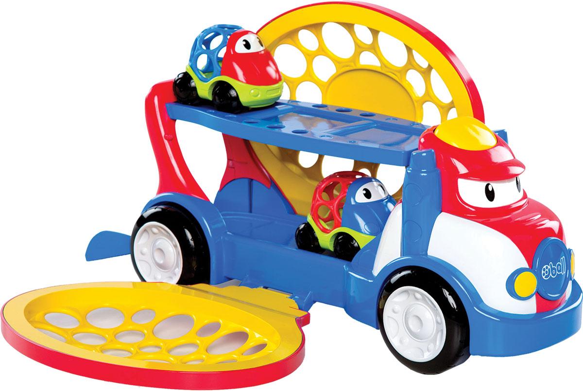 Oball Автовоз с двумя машинками бадод машинки