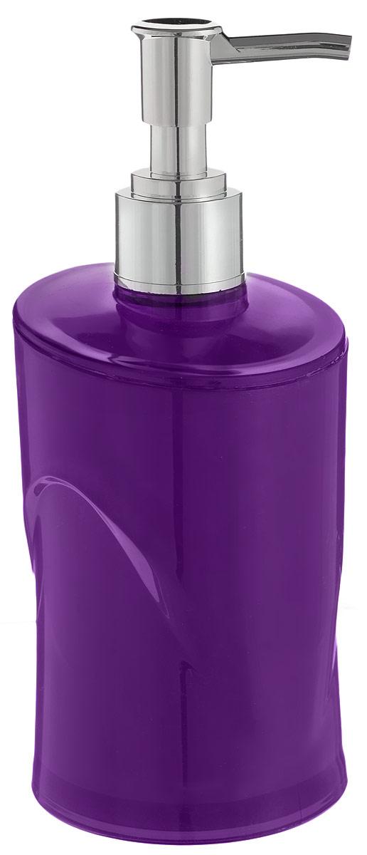 Дозатор для жидкого мыла Indecor, цвет: фиолетовый, серый, 300 млBL505Дозатор для жидкого мыла Indecor, изготовленный из пластика, отлично подойдет для вашей ванной комнаты. Такой аксессуар очень удобен в использовании, достаточно лишь перелить жидкое мыло в дозатор, а когда необходимо использование мыла, легким нажатием выдавить нужное количество. Дозатор для жидкого мыла Indecor создаст особую атмосферу уюта и максимального комфорта в ванной.Размер дозатора: 7 х 7 х 16,5 см.Объем дозатора: 300 мл.