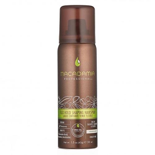 Macadamia Professional Спрей Подвижная фиксация, 43 грSatin Hair 7 BR730MNНевесомый финиш-спрей Macadamia Professional с маслами арганы и макадамии обеспечивает среднюю степень фиксации, создает текстуру и объем. Дает подвижную фиксацию, великолепный блеск и защиту от УФ-лучей. Идеален для волос любой длины и формы. Оставляет волосы легко расчесываемыми и структурированными одновременно.