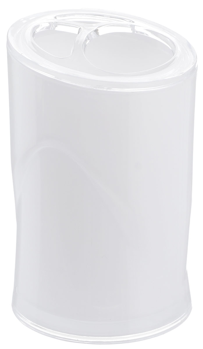 Стакан для зубных щеток Indecor, цвет: белый, высота 11 смV4140/1SОригинальный стакан для зубных щеток Indecor изготовлен из пластика и отлично подойдет для вашей ванной комнаты. Стильный дизайн изделия притягивает взгляд и прекрасно подойдет к интерьеру в ванной комнаты.Размер стакана: 7 х 7 х 11 см.