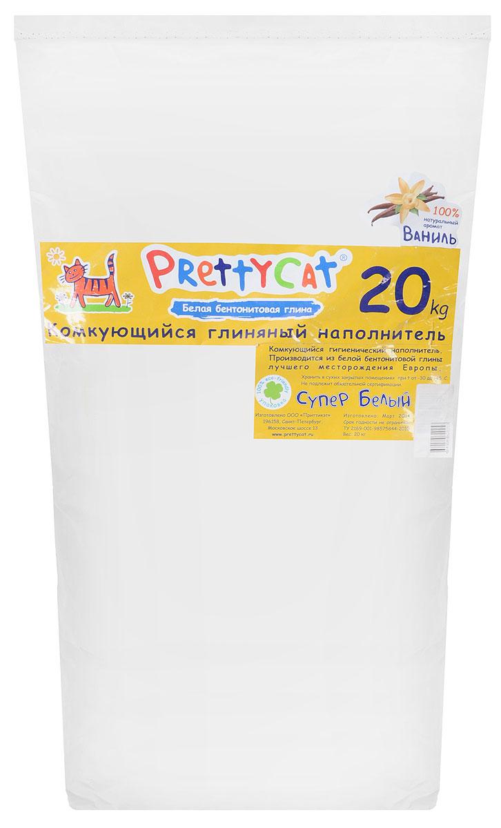Наполнитель для кошачьих туалетов PrettyCat Супер белый, комкующийся, с ароматом ванили, 20 кг14C235181Наполнитель для кошачьих туалетов PrettyCat Супер белый - это 100% натуральный комкующийся наполнитель. Изготовлен из белой бентонитовой глины лучшего европейского качества. Впитывает до 400% влаги, прекрасно комкуется в идеально ровные шарики. Благодаря способности моментально образовывать крепкие комки, он обеспечит необходимую гигиену в кошачьем туалете, а также значительно упростит процесс уборки. Наполнитель изготовлен из экологически чистого материала, поэтому будет напоминать вашему питомцу о естественной среде обитания, а вам не доставит лишних хлопот по уходу за своим любимцем. Приятный аромат ванили создаст дополнительное ощущение свежести при использовании.Состав: белая бентонитовая глина.Вес: 20 кг.Товар сертифицирован.