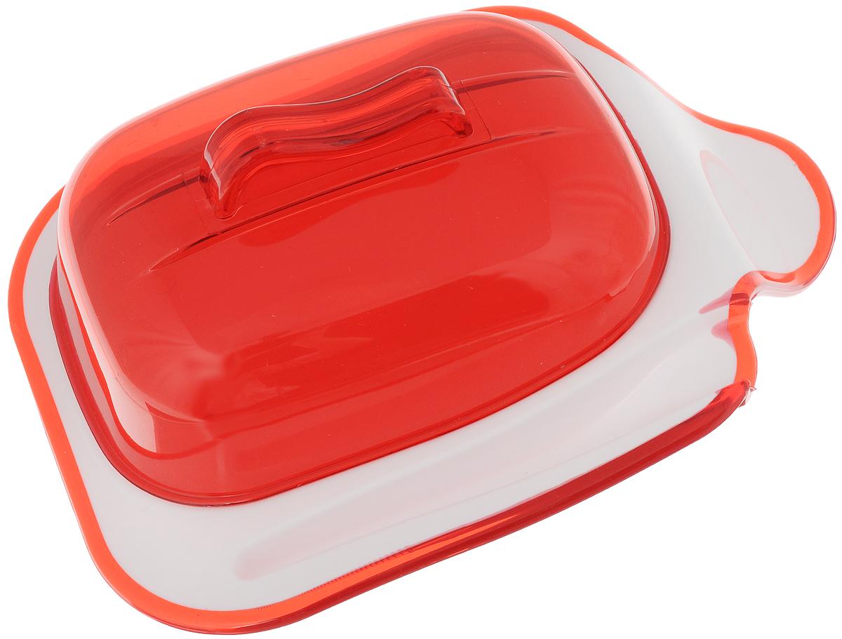 Контейнер для сыра Indecor, цвет: красный, 21 х 15 х 8,5 смАксион Т-33Контейнер Indecor поможет вам хранить сыр без примесей запахов в холодильнике. Изделие выполнено из пластика. Вы сможете наслаждаться вкусом и запахом вашего сыра без изменений. Такое приспособление не позволит вам остаться недовольным качеством своего любимого продукта. Контейнер оснащен углублением для ножа.